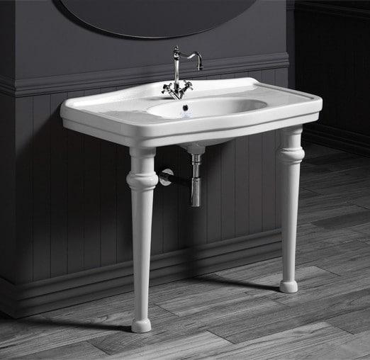 Simas Londra lavabo da 105 cm con supporti Sanitari Bagno Antico