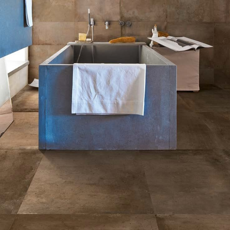 Ergon Tr3nd Concrete Braun 120x120 cm C3F86R E3ZZ effetto Cemento Pavimento P...
